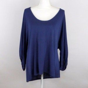 Michael Stars Blue Boat Neck Swing Top